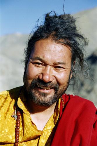 Monk at Mulbekh, Ladakh.