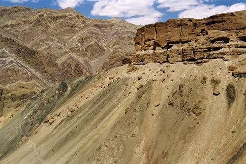 The sometimes barren wilderness of the Ladakhi region.