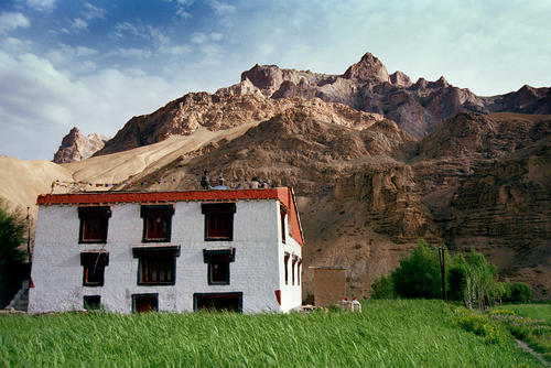 A typical Ladakhi house.
