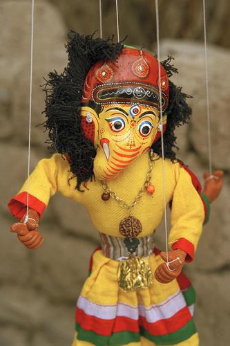 Marionette for sale in Alchi. Ladakh.