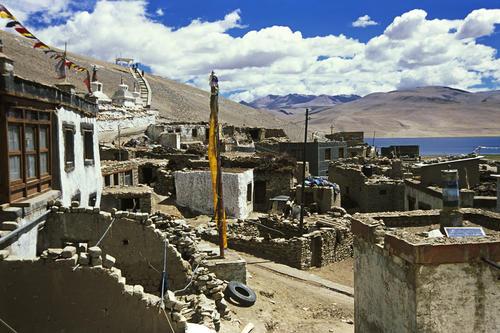 The village of Korzok, Ladakh.