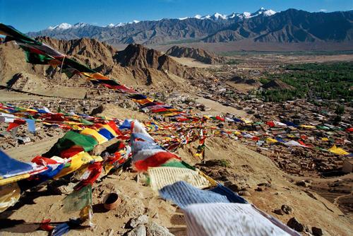 Overview of Leh town, Ladakh.