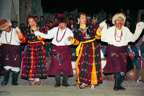 Traditional dancing at Leh, Ladakh.