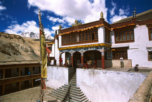 Overview of the Korzok Gompa, Ladakh.