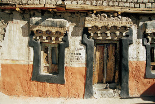 The ancient library at the Thikse temple, Ladakh.