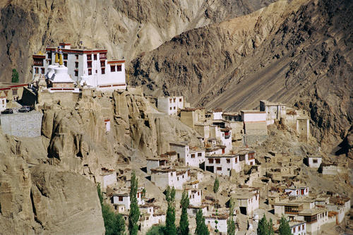 Overview of the Lamayuru temple, Ladakh.
