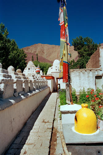 The courtyard at the Alchi temple, Ladakh.