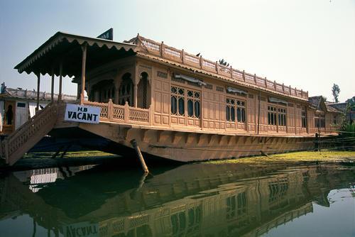 Houseboat on Dal Lake, Srinagar, Kashmir.