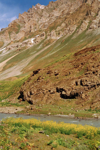 A typical alpine panorama in Kashmir.