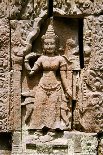 Bas Reliefs at the Angkor Wat temple complex.
