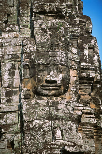 The 'Bayon', the state temple of of Angkor Thom the last and most enduring capital city of the Khmer empire.