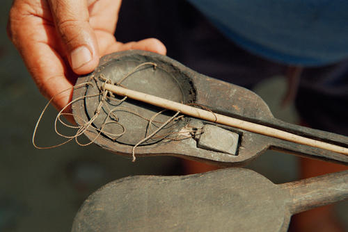 Ancient traditional ivory scales used to weigh opium at Luang Prabang.