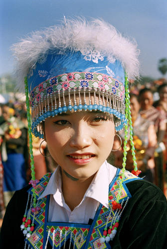 Local girl at the annual Elephant Festival, Sayaboury Province, Laos.