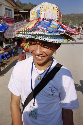 Local boy at the annual Elephant Festival, Sayaboury Province, Laos.