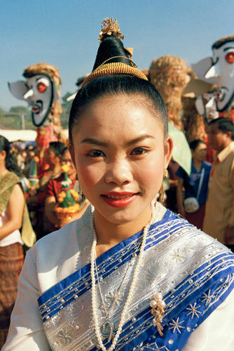 Girl at the annual Elephant Festival, Sayaboury Province, Laos.