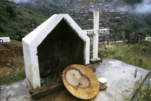 Burial site at Nambija after a devastating landslide caused over 500 deaths.