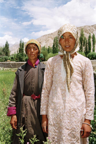 Local ladies at Chemde village, Ladakh.