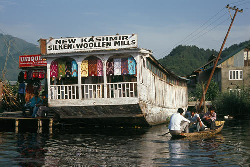Shop/come houseboat on Dal Lake Kashmir.