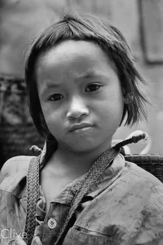 Young boy belonging to the Kachah indigenous people near Ban Lung, Ratanakiri Province, Cambodia.