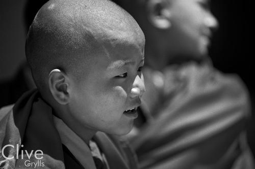 Young monks at the Phyang Gompa, Ladakh.