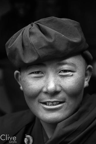 Nun at the Hemis Gompa, Ladakh.