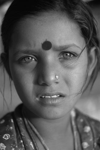 Gypsy/tribal girl. Pushkar, Rajasthan.