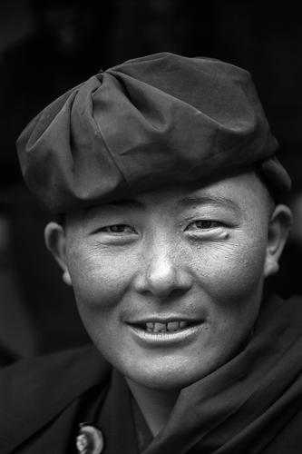 Nun at the Hemis Gompa, Ladakh.
