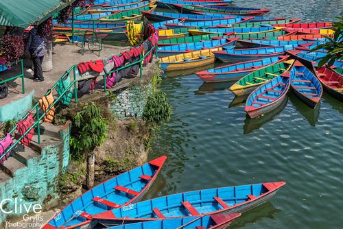 Rowing boats on Lake Fewa, Pokhara