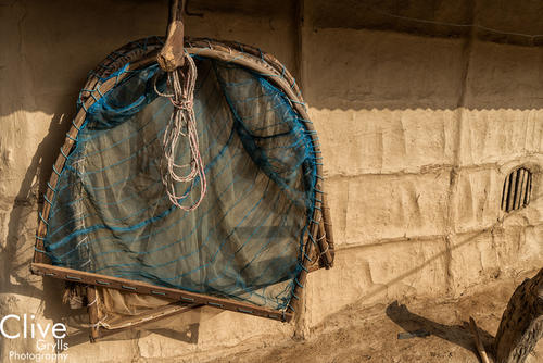 Traditional nets in a Tharu village located outside Bardia National Park