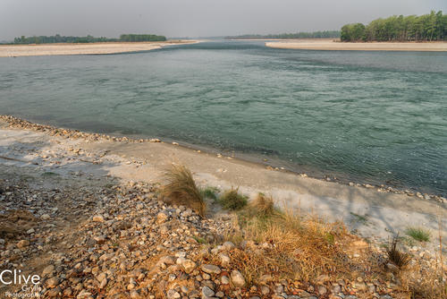 The confluence of the Karnali and Geruwa rivers in Bardia National Park