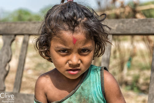 Tharu girl in a village outside the Bardia National Park