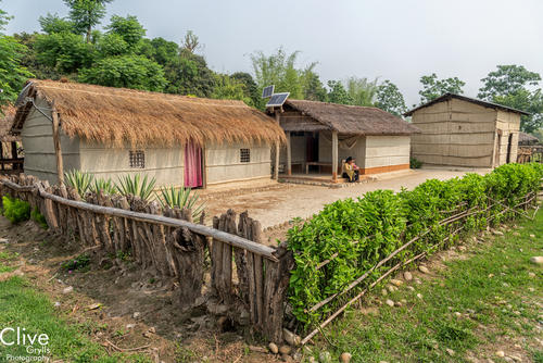 Tharu traditional house in the Madi region of Chitwan National Park