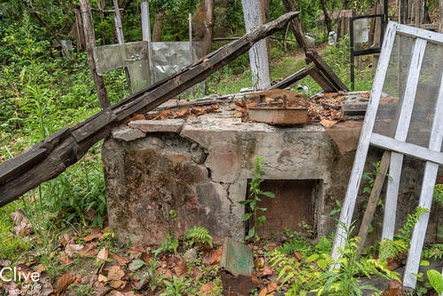 The old oven: Remnants of the derelict 'Tiger Tops' Camp inside the Chitwan National Park