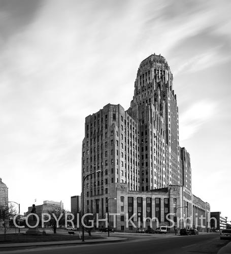City of Buffalo NY City Hall Black & White