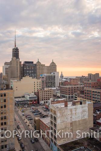 Buffalo NY Skyline Sunset 2