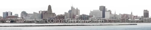 Buffalo NY skyline panoramic