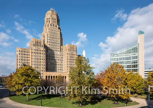 Buffalo NY Niagara Square City Hall Art Deco