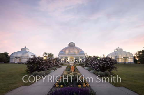 Buffalo NY Botanical Gardens Sunset Victorian