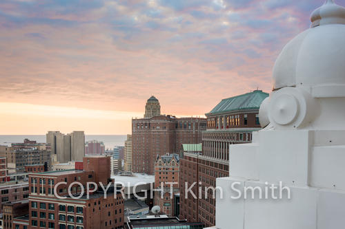 Buffalo NY Skyline Sunset 1