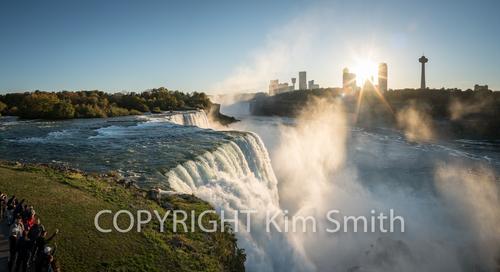 Niagara Falls Sun Streaks + Observers