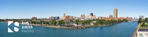 Erie basin and skyline Buffalo NY, from outer harbor