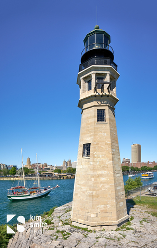 Lighthouse outer harbor Buffalo NY