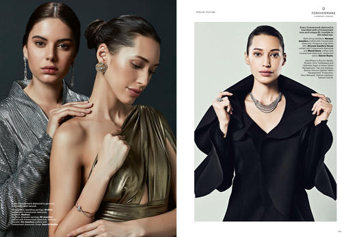 Auraa Model Valentina & Alina Featured In Hapar's Bazaar for Forevermark campaing