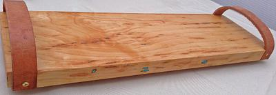 Sugar Maple with Sleeping Beauty Turquoise Inlay and Leather Handles