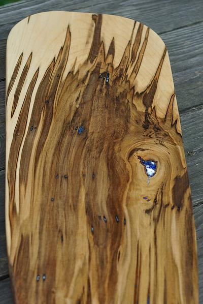 Chocolate Ambrosia Maple with Lapis and Opal Inlay
