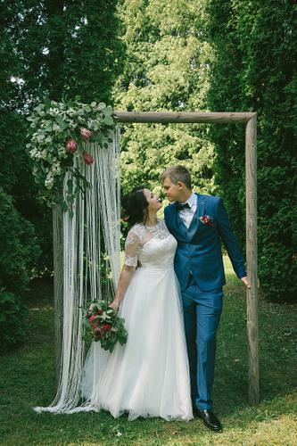 Dekoratīvs rāmis kāzās fotosesijai