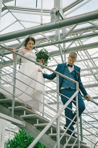 Metāla trepes līgava un līgavainis Salaspils Oranžērija