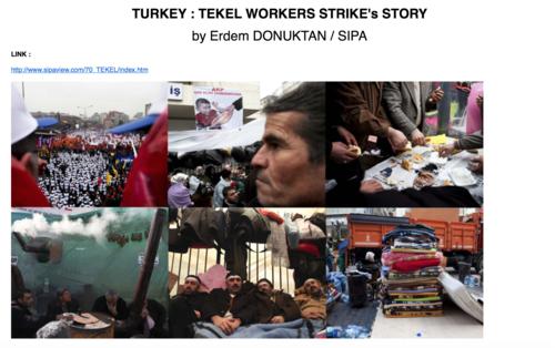 Tekel Workers Strike, February 2010 / SIPA PRESS