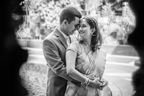 Engagement couple portrait USA couple