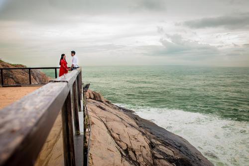 Prewedding Kerala Kovalam Backwaters destination wedding